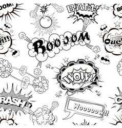 Seamless pattern comic speech bubbles vector image vector image