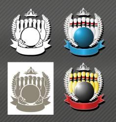 bowling league vector image vector image