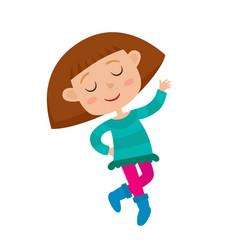 cartoon of graceful girl vector image vector image