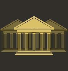 greek temple front vector image