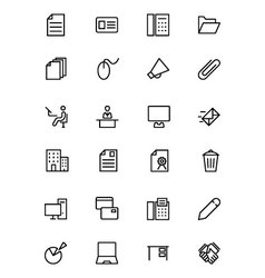 Office Line Icons 2 vector image