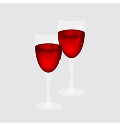 Red wine in a glass vector image vector image