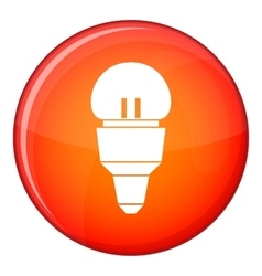 Reflector bulb icon flat style vector image vector image