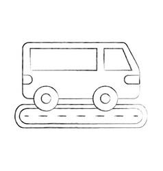 van car street transport vehicle wheel vector image vector image