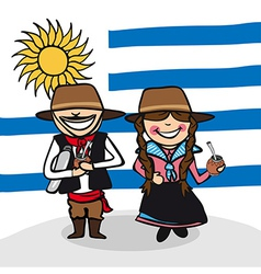 Welcome to Uruguay people vector image vector image