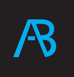 Ab letter logo vector