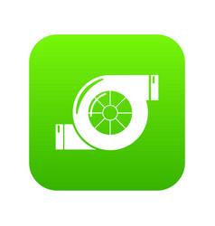 Air filter icon green vector