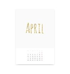 April 2017 Calendar Page vector