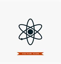 atom icon simple vector image