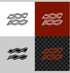 bacon line icon stripe lines bacon symbol vector image