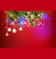 beautiful holiday balls vector image