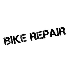bike repair rubber stamp vector image vector image