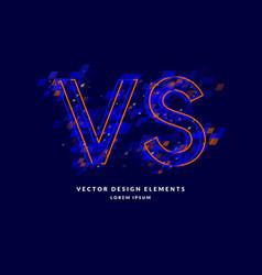 bright poster symbols confrontation vs can be vector image