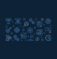 Business goals outline modern horizontal vector