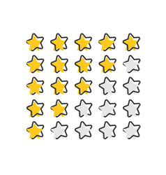 cartoon customer review icon in comic style stars vector image