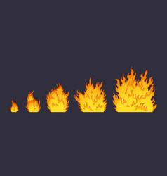 Cartoon explosion fire effect effect boom vector
