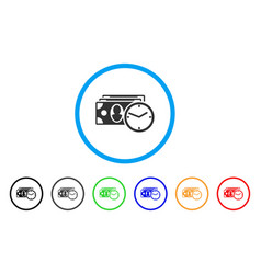 cash credit rounded icon vector image