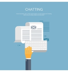 Chatting Email Global vector image