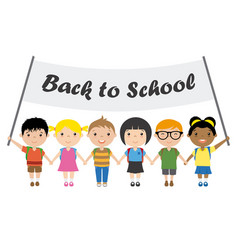 children students vector image