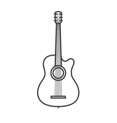classic guitar with strings vector image