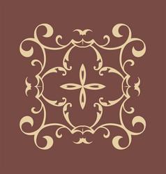 Colored ornamental logo vintage retro ornament vector