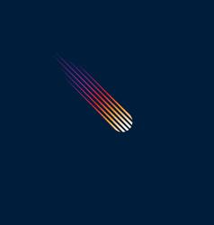 Comet logo meteor icon vector