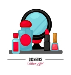 Cosmetics and fashion make up objects vector