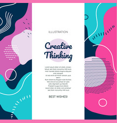 creative thinking - modern flat design style vector image