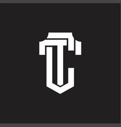 Ct logo monogram design template vector