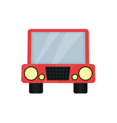 cute photo frame in the shape of toy car album vector image