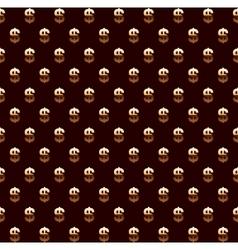 Dollar seamless pattern background vector