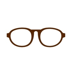 eye glasses style icon vector image