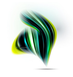 Fluid liquid mixing colors concept on light grey vector