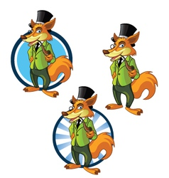Gentleman Fox vector image