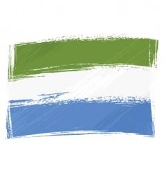 grunge Sierra Leone flag vector image