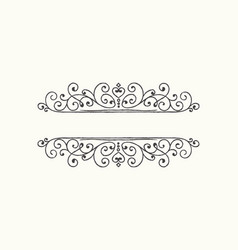 hand drawn decorative border in grunge retro style vector image