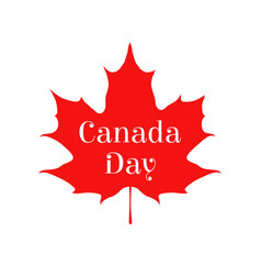 Happy canada day card sticker for markets shops vector