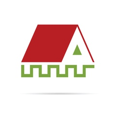 house color on a white vector image
