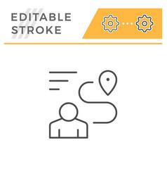 human navigation editable stroke line icon vector image