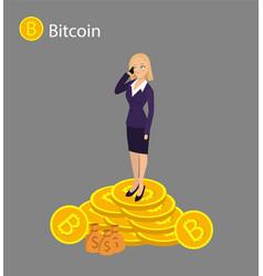 isometric businesswoman investor vector image