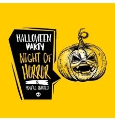 Jack pumpkin Halloween concept vector image
