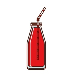 juice fruit bottle isolated icon design vector image