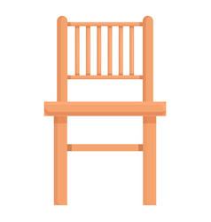 Kid wood chair icon cartoon wooden patio vector