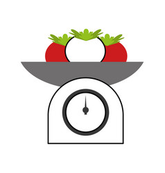 Kitchen balance with tomatoes vector