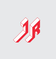 letter j and r - monogram or logotype vector image