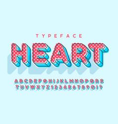 linear modern popart alphabet design letters vector image