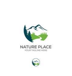 logo nature abstract elements round sacred vector image