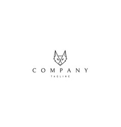 logo on which an abstract image a fox vector image
