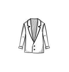 male jacket hand drawn sketch icon vector image