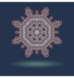 Mandala motif with copyspace and shadow in the vector image